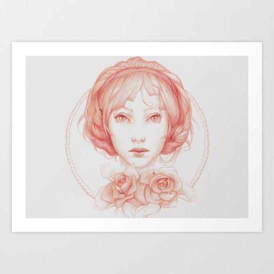 Simple Portrait Art Print