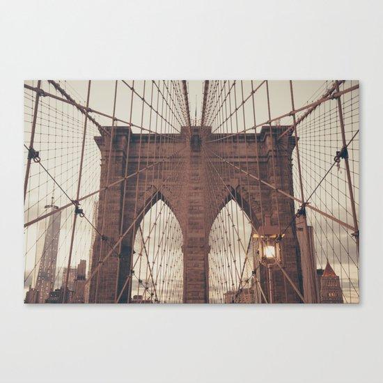 Moody Brooklyn Bridge Canvas Print