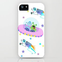 Outerspace Traffic Jam iPhone Case