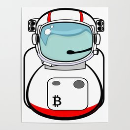 Astronaut Bitcoin Patch Poster