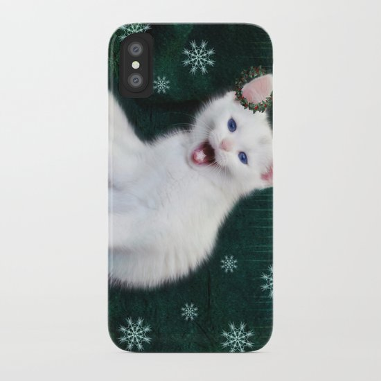 Catching Snowflakes iPhone Case
