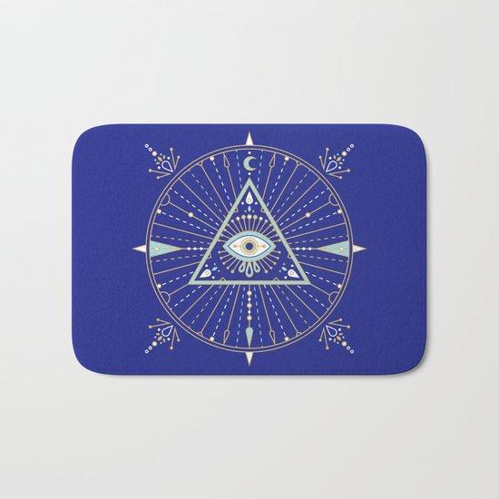 Evil Eye Mandala – Navy Bath Mat