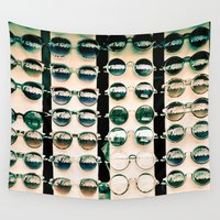 sunglasses Wall Tapestries featuring Sunglasses in Camden by adelecarne