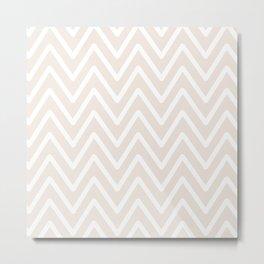 Chevron Wave Gardenia Metal Print