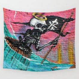 Sailing Skeleton  Wall Tapestry