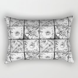 Black flowers Rectangular Pillow