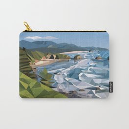 Geometric Cannon Beach Carry-All Pouch