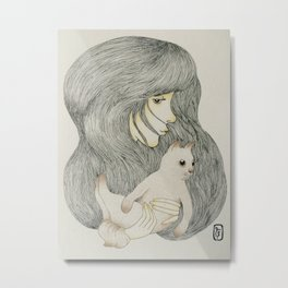 Carry Me Human Metal Print