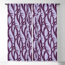 Abstract snakes pattern purple Blackout Curtain