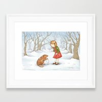 lucy Framed Art Prints featuring Lucy by Amanda Francey
