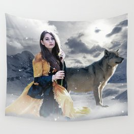 Gothic Princess & Wolf Wall Tapestry