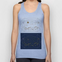 Day and Night Landscapes Unisex Tank Top