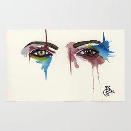 David Bowie Eyes Rug