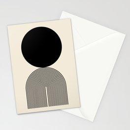 Abstraction_BLACK_DOT_LINE_ART_Minimalism_003C Stationery Cards