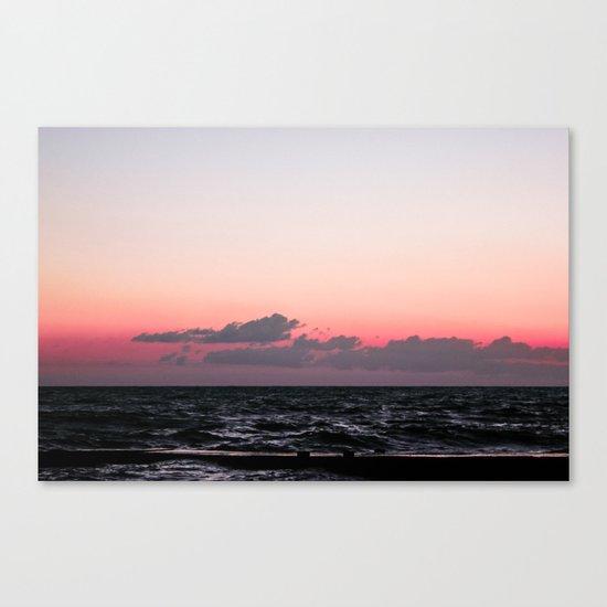 Ocean #sunset Canvas Print