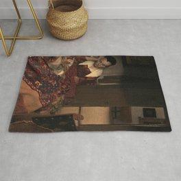 Johannes Vermeer - A Girl Asleep Rug