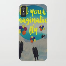 Vintage Quotes Collection -- Let Your Imagination Fly iPhone Case