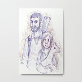 Ellie and Joel Metal Print