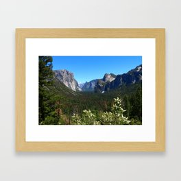 Bridal Veil Falls From Tunnel View Point - Yosemite Valley Framed Art Print