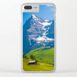 Alpine Scenery Clear iPhone Case