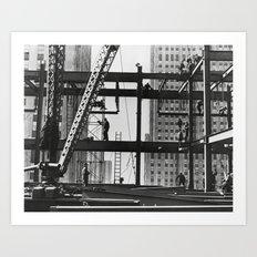 Steel workers New York City Art Print