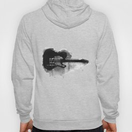black and white electric guitar Hoody