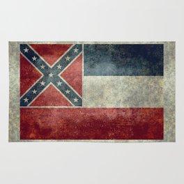 Mississippi State Flag - Distressed version Rug