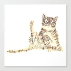 Cheeky Kitty Cat Canvas Print