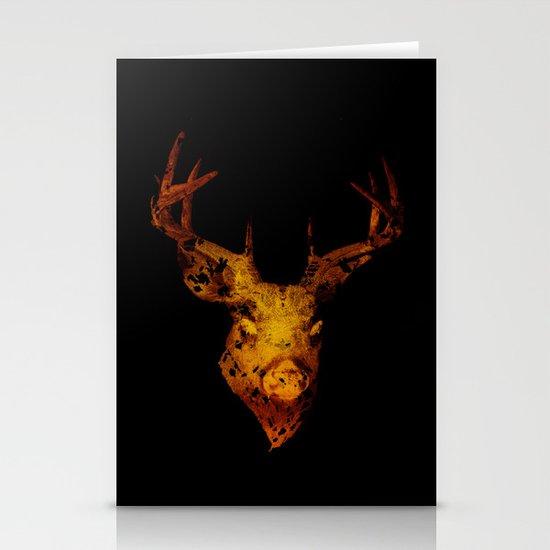 Cervus (Gold Negative Version) Stationery Cards