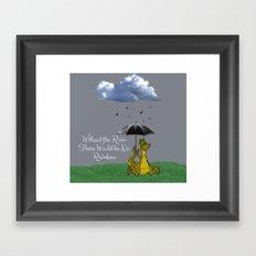 Raining Rainbow Dragon Framed Art Print