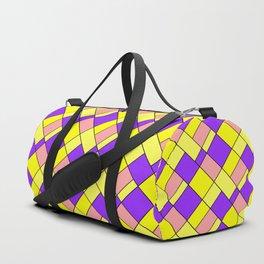 Lemon lilac plaid Duffle Bag