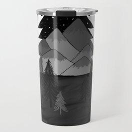 mountainous tree Travel Mug