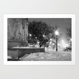 Illinois Centennial Monument - Logan Square Chicago Art Print