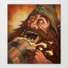 """""""Ha Ha!  Beer is good!!"""" Canvas Print"""