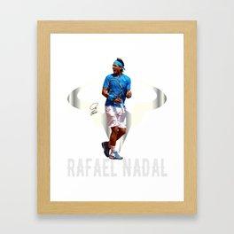 Rafa Nadal Spain. Framed Art Print