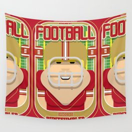American Football Red and Gold - Enzone Puntfumbler - Sven version Wall Tapestry