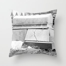 very old grave Throw Pillow