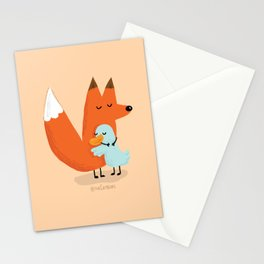 Fox & Duck - I Accept Our Differences Stationery Cards