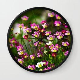 Flowers in miniature Wall Clock