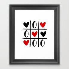 XO LOVE HEART SPECIAL - Valentines Day Framed Art Print