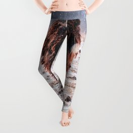 Bison in the snow Leggings