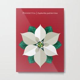 Christmas Poinsettia Red Metal Print