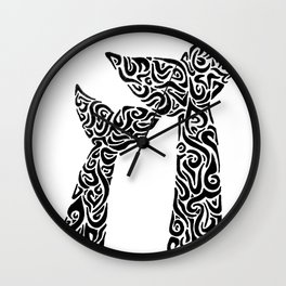 Whale Tails Wall Clock