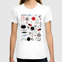 50s T-shirts featuring Mushroom Berries Nuts and Fruits / Classic 50s pattern by In The Modern Era