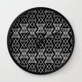 RIGHT AND WRONG:III BLACK DREAMS Wall Clock