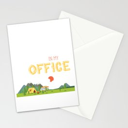 I'll Be In My Office Love Camping  Stationery Cards
