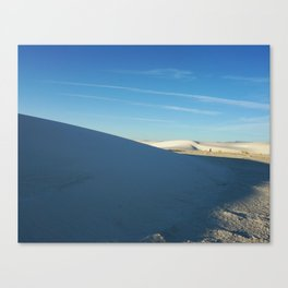 Shadows of White Sands Canvas Print