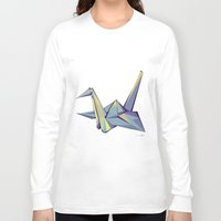 origami Long Sleeve T-shirts featuring Origami by Daniela Castillo