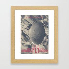 The Fly, horror movie poster, David Cronenberg, Jeff Goldblum, alternative playbill Framed Art Print