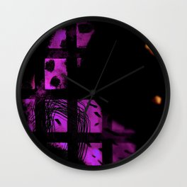 Looking glass tiles Wall Clock
